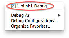 Select the debug configuration
